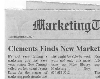 Marketing Newspaper Headline