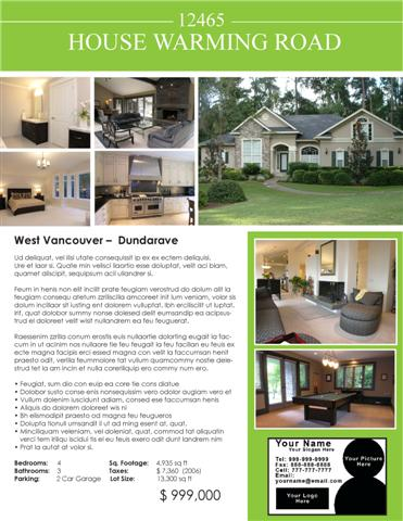 Open house tips for realtors good ideas are a dime a for Real estate feature sheet template free