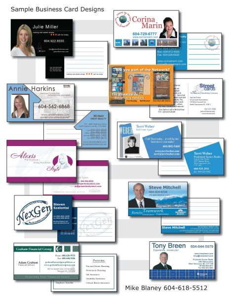 Business card tricks how to make them work good ideas for Sample business card designs