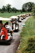 Golf traffic jam