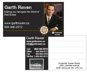 Recent business card designs good ideas are a dime a dozen but steve burk realtor vancouverosoyoos reheart Choice Image