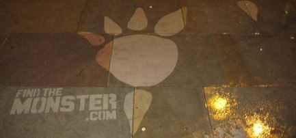 Stencil in Dirty Sidewalk