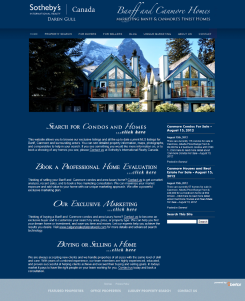 Banff Canmore Homes Website