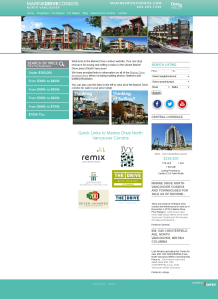 Marine Drive Condos Website