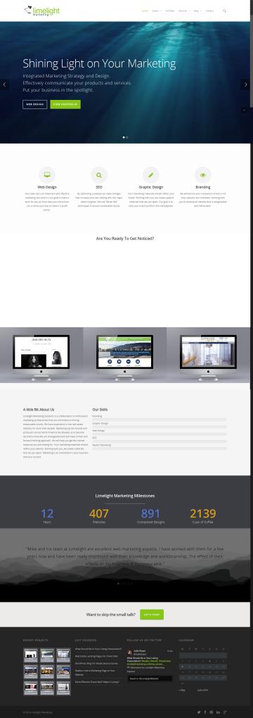 limelight marketing website